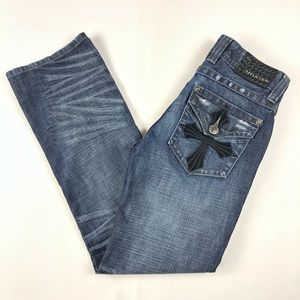 Affliction Blake Relaxed Straight Distressed Jeans
